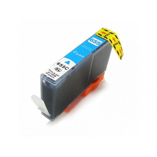 HP CZ110AE, azurová (HP 655) - kompatibilní inkoustová kazeta
