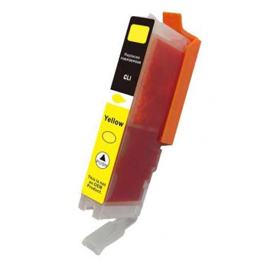 Canon CLI-521Y, žlutá -  kompatibilní inkoustová kazeta