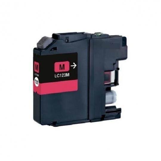 Brother LC-123M, purpurová - kompatibilní inkoustová kazeta