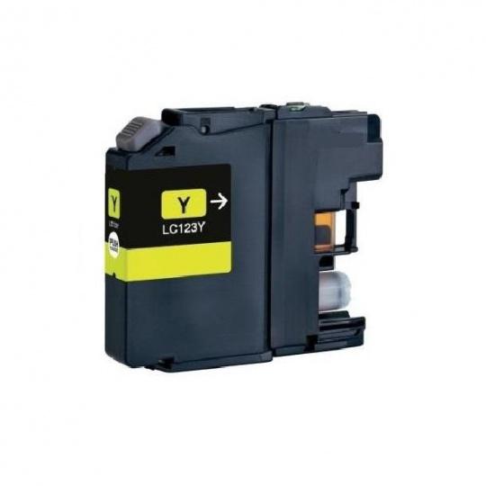 Brother LC-123Y, žlutá - kompatibilní inkoustová kazeta