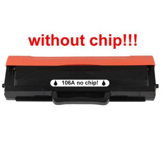 HP W1106A - bez čipu, černý (HP 106A) - kompatibilní toner
